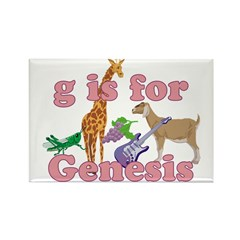 G is for Genesis Rectangle Magnet (100 pack)