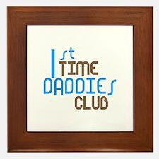 1st Time Daddies Club (Blue) Framed Tile