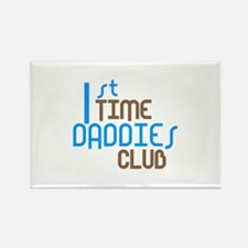 1st Time Daddies Club (Blue) Rectangle Magnet (10