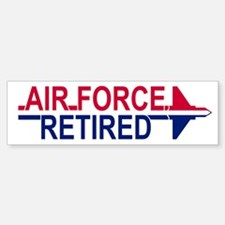 Air Force Retired <BR>Bumper Bumper Bumper Sticker