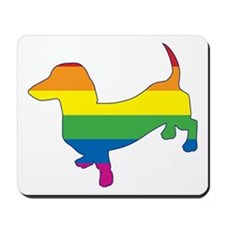 Gay Pride Dachshund Mousepad