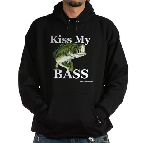 """Kiss My Bass"" Dark Hooded Sweatshirt"