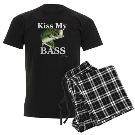 """Kiss My Bass"" Men's Dark Pajamas"