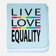 Live Love Equality baby blanket