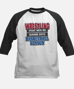 Wrestling What Men Do Kids Baseball Jersey