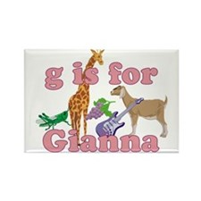G is for Gianna Rectangle Magnet