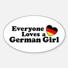 German Girl Sticker (Oval)