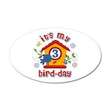 3rd Bird Day 22x14 Oval Wall Peel