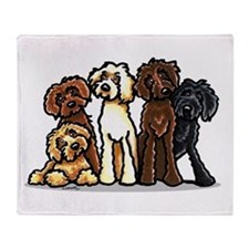 Labradoodle Lover Throw Blanket