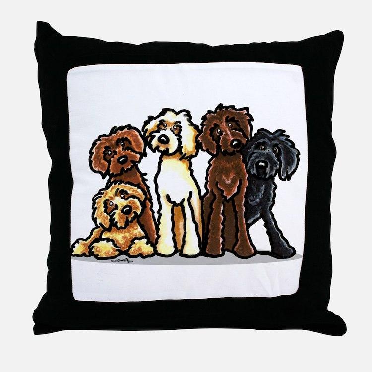 Labradoodle Lover Throw Pillow
