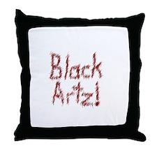 Black Artz Throw Pillow
