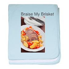 Braise My Brisket! baby blanket