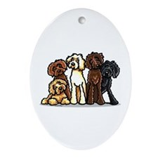 Labradoodle Lover Ornament (Oval)