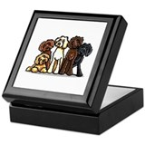 Labradoodle Square Keepsake Boxes