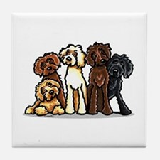 Labradoodle Lover Tile Coaster