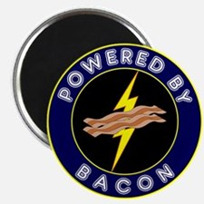 "Powered By Bacon 2.25"" Magnet (10 pack)"