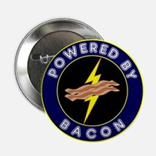 """Powered By Bacon 2.25"""" Button (10 pack)"""