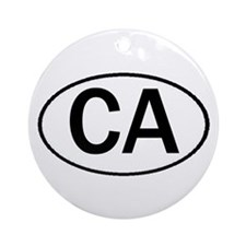 CALIFORNIA OVAL STICKERS & MO Ornament (Round)