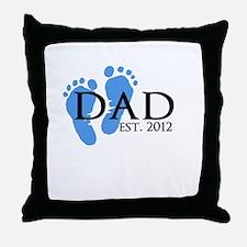Dad Est 2012 Throw Pillow