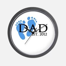Dad Est 2012 Wall Clock