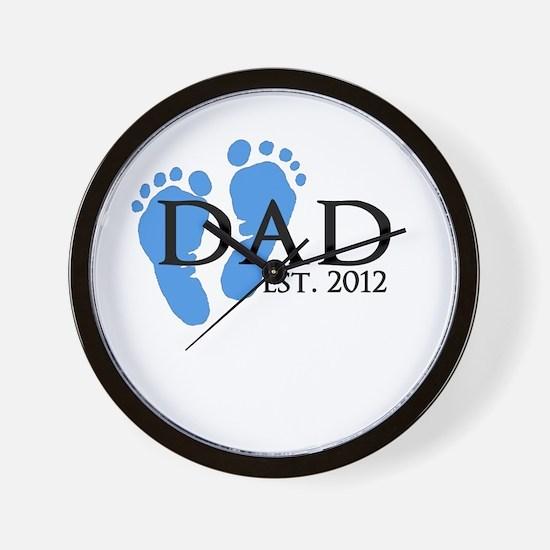 Dad Est 2012 Wall Clock