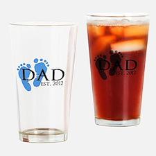 Dad Est 2012 Pint Glass