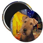 Cafe / Airedale #1 Magnet