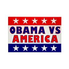 Obama vs America Rectangle Magnet
