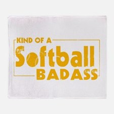 Cute Funny softball Throw Blanket