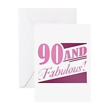 90 & Fabulous Greeting Card