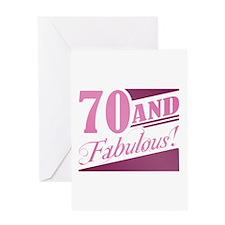 70 & Fabulous Greeting Card