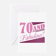70 & Fabulous Greeting Card