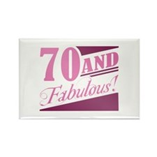 70 & Fabulous Rectangle Magnet