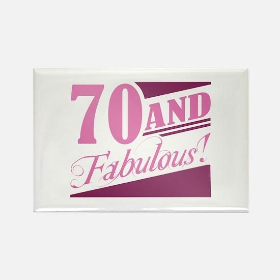 70 & Fabulous Rectangle Magnet