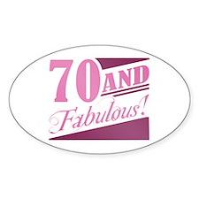 70 & Fabulous Decal