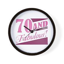 70 & Fabulous Wall Clock