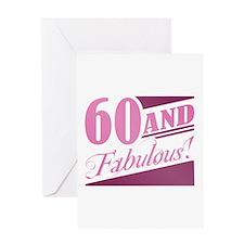 60 & Fabulous Greeting Card