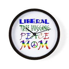 LIBERAL PEACE MOM (RB) Wall Clock