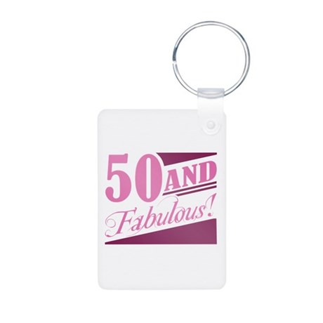 50 & Fabulous Aluminum Photo Keychain