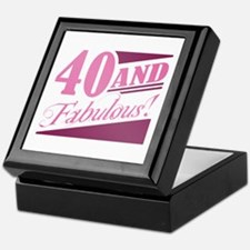 40 & Fabulous Keepsake Box
