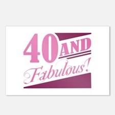 40 & Fabulous Postcards (Package of 8)