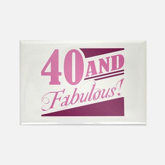 40 & Fabulous Rectangle Magnet
