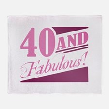 40 & Fabulous Throw Blanket