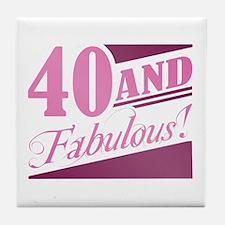 40 & Fabulous Tile Coaster