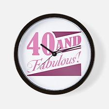40 & Fabulous Wall Clock