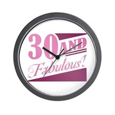 30 & Fabulous Wall Clock