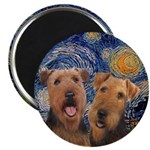Starry / Two Airedales Magnet