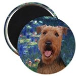 Lilies #5 - Airedale #3 Magnet