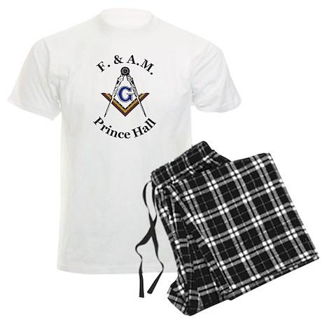 Prince Hall Square and Compass Men's Light Pajamas