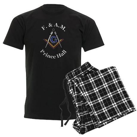Prince Hall Square and Compass Men's Dark Pajamas